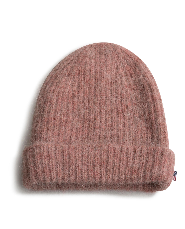 Michelle Alpaca Beanie, Pink Melange