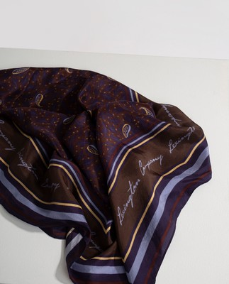 Gardiners Bay Silk Scarf, Feather Print