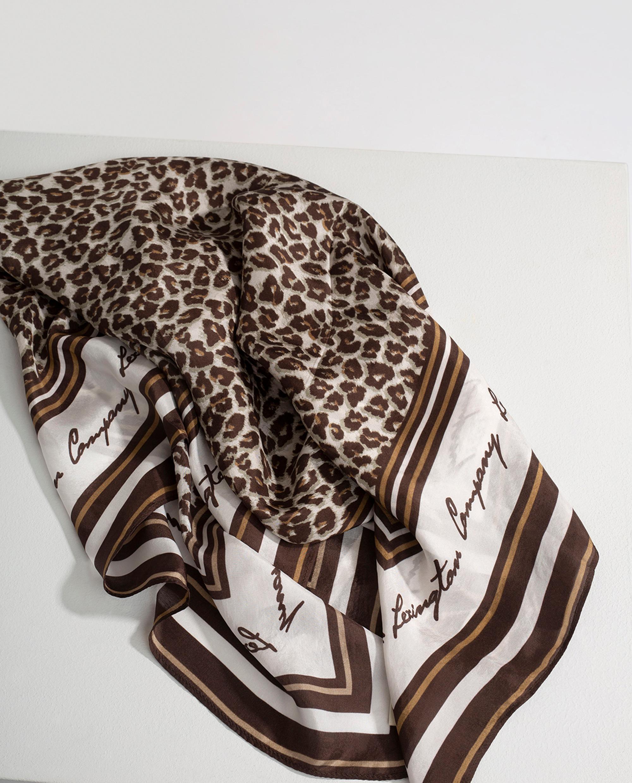 Gardiners Bay Silk Scarf, Leopard Print
