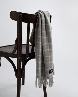 Massachusetts Scarf, Gray Check