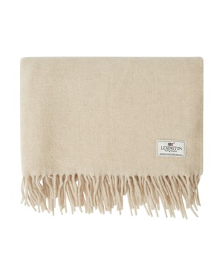 Aurora Wool Scarf, Light Beige Melange