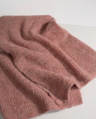 Aberdeen Alpaca Scarf, Pink Melange