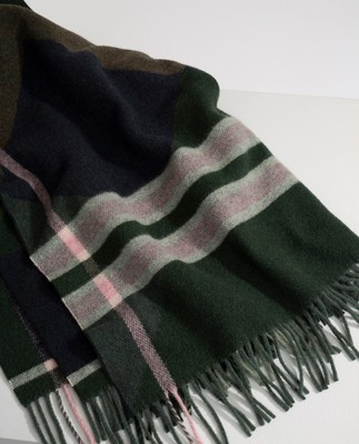 Aurora Checked Wool Scarf, Multi Check