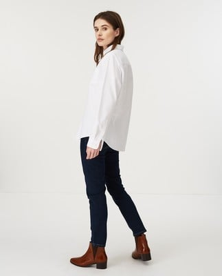 Sarah Organic Cotton Oxford Shirt, White