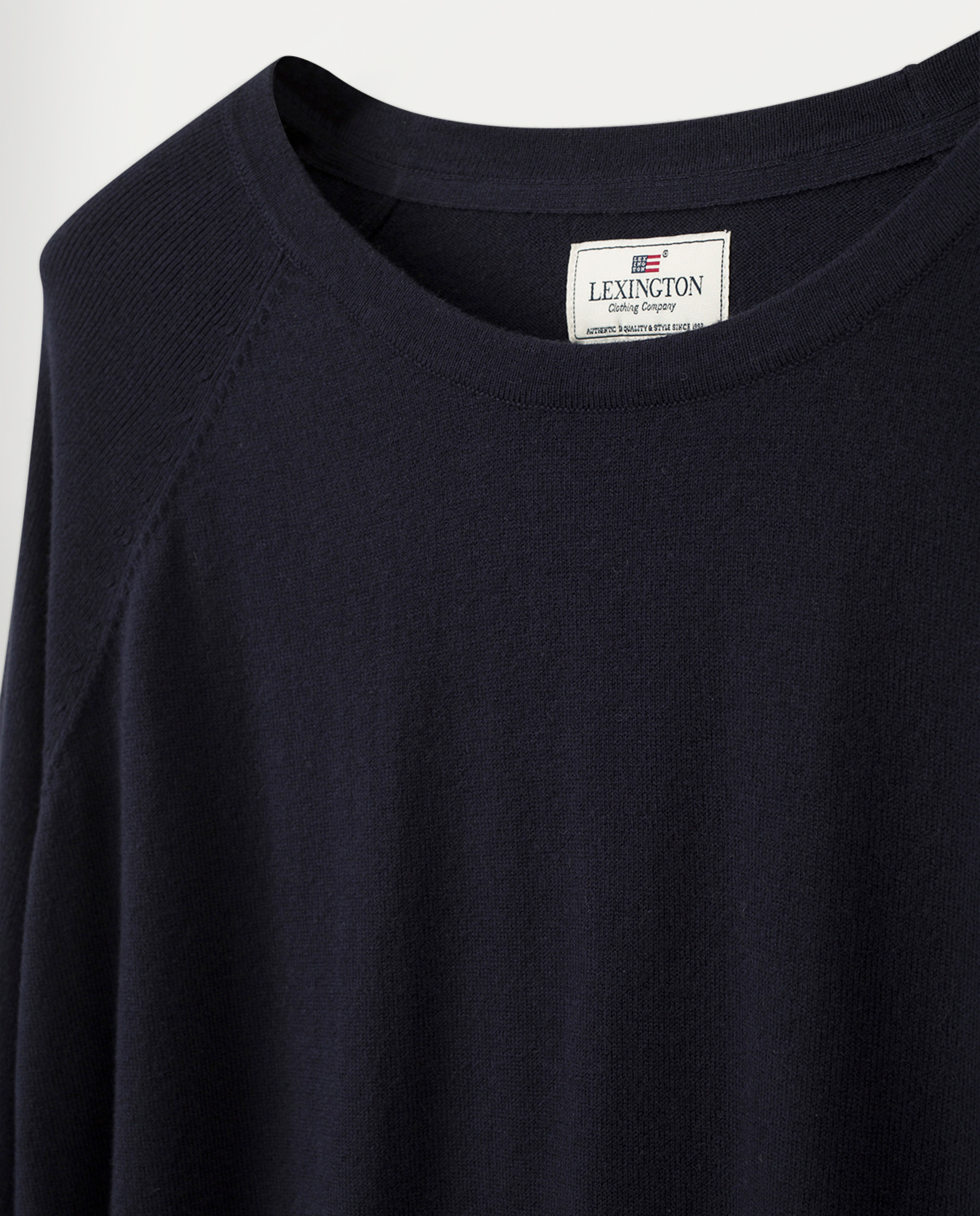 Lea Cotton/Cashmere Sweater, Dark Blue