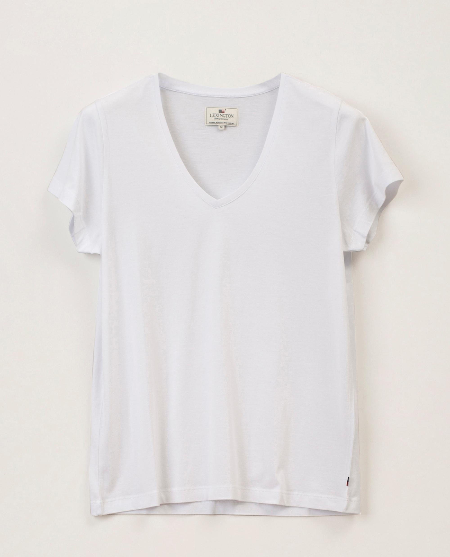 Becka V-neck Tee, White