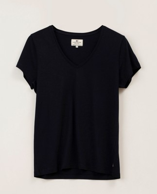 Becka V-neck Tee, Dark Blue