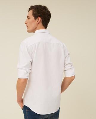 Kyle Oxford Organic Cotton Shirt, White