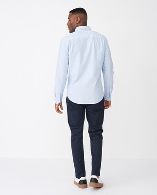 Kyle Oxford Organic Cotton Shirt, Light Blue