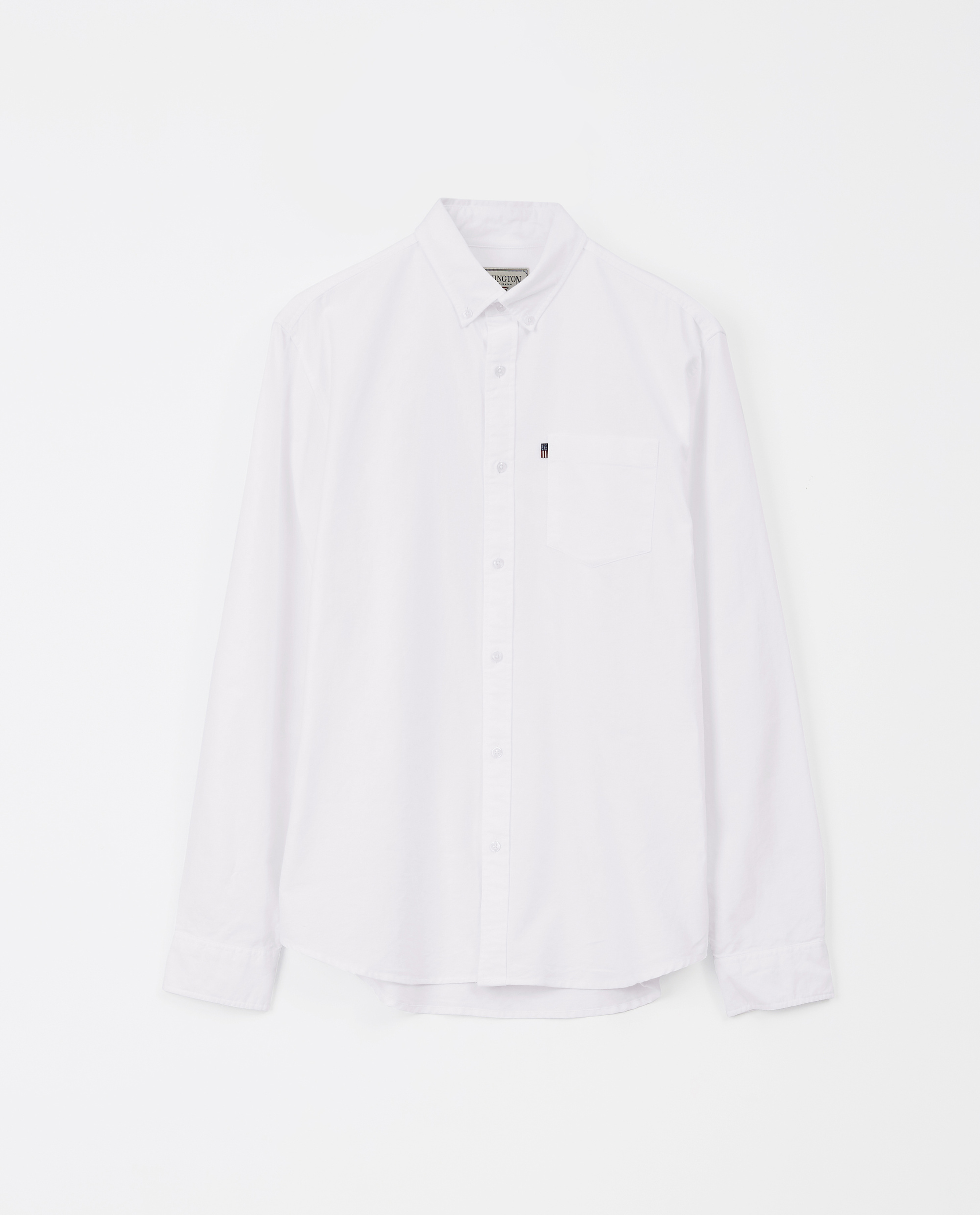 Kyle Oxford Organic Cotton Shirt, White