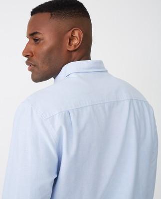 Kyle Oxford Organic Cotton Shirt, Light Blue