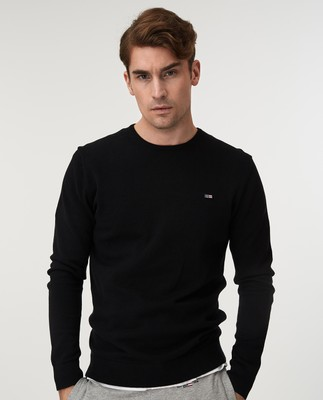 Bradley Crew Neck Sweater, Black