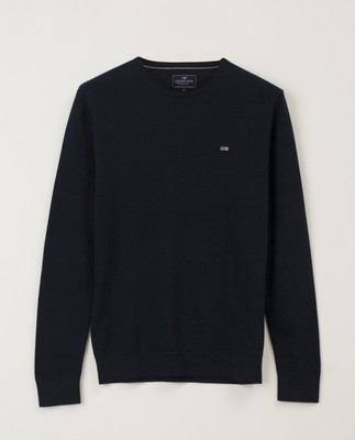 Bradley Crew Neck Sweater, Dark Blue