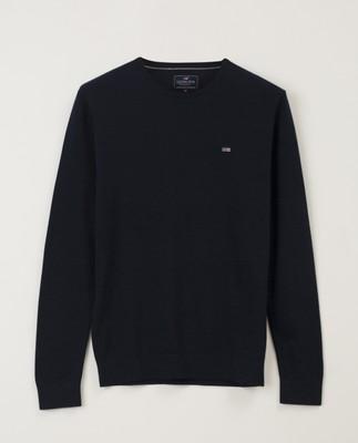 Bradley Crew Neck Sweater, Dark Blue