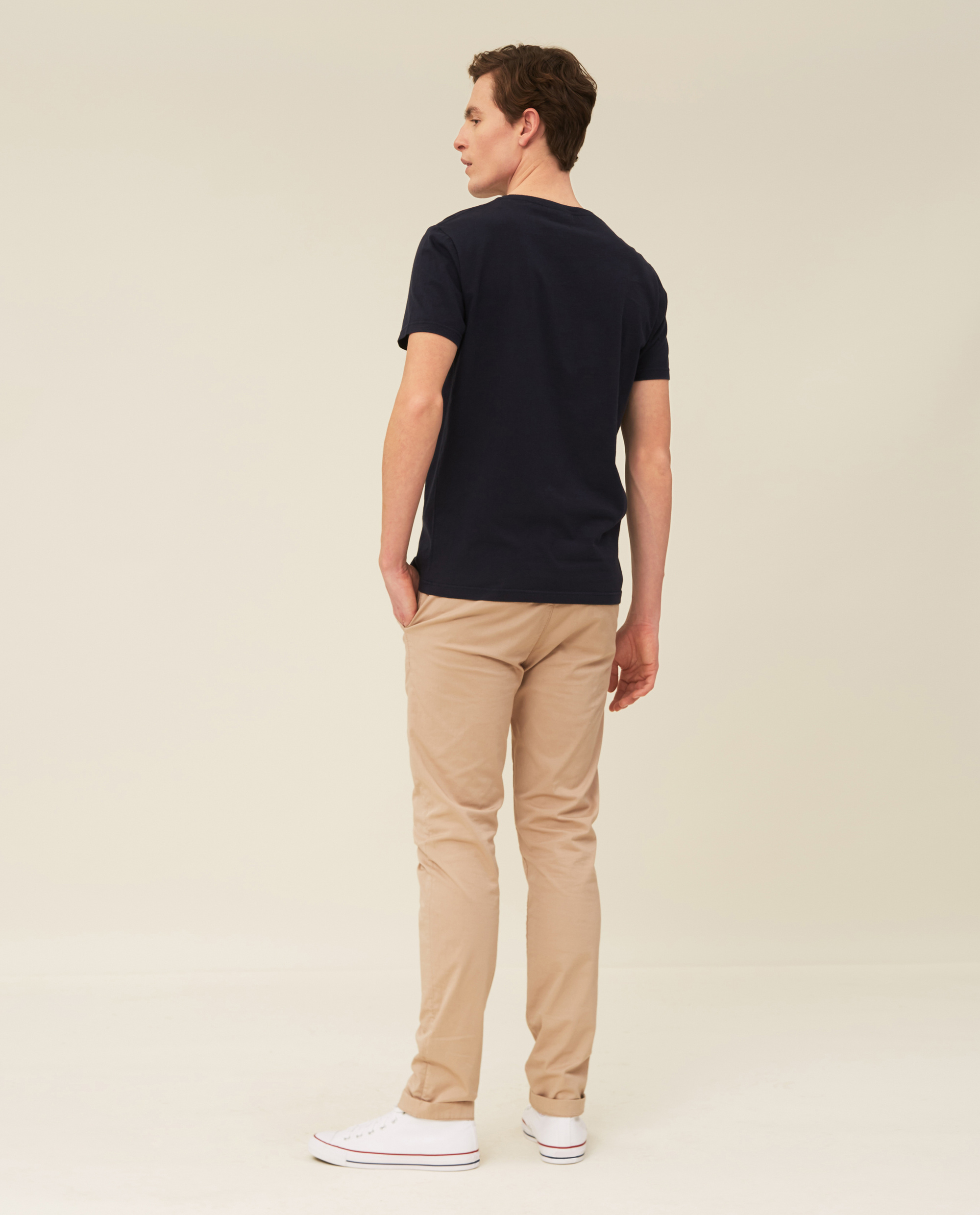 Travis Organic Cotton Tee, Dark Blue