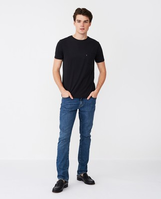 Travis Organic Cotton Tee, Black