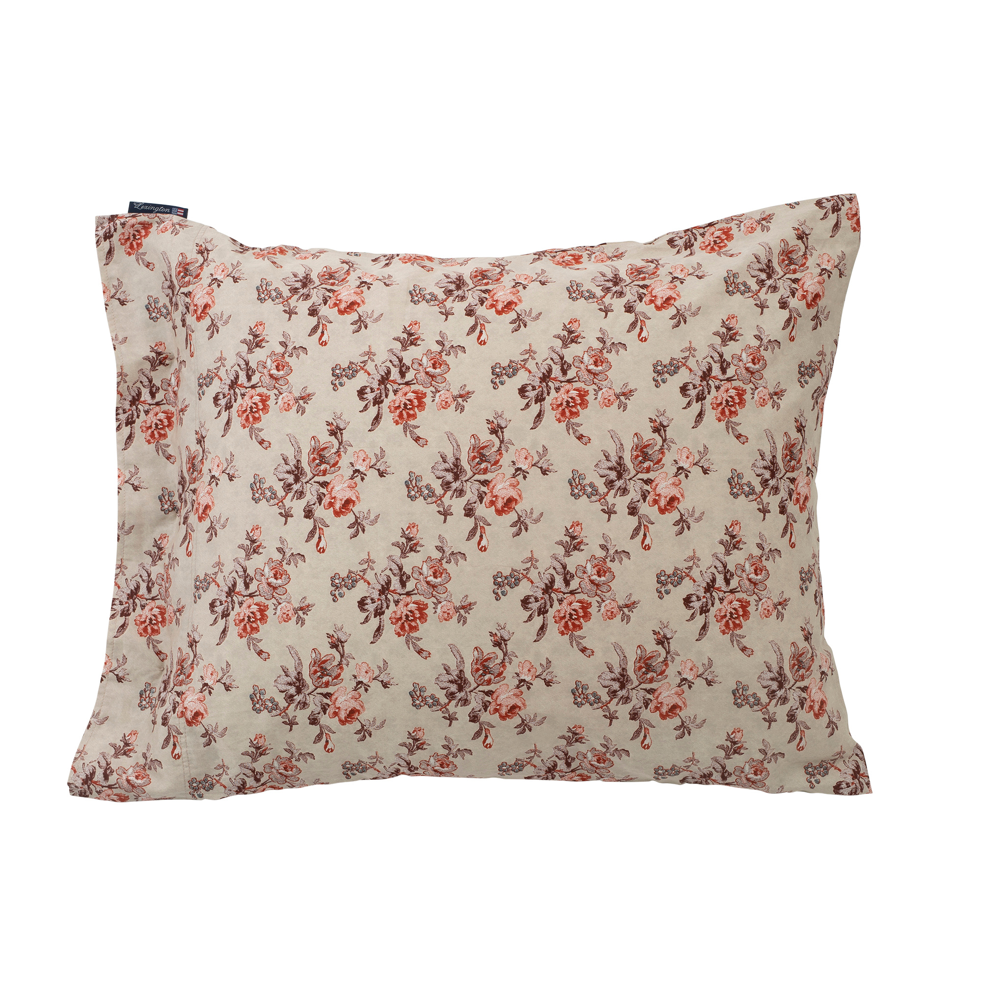 Printed Floral Sateen Pillowcase, Autumn Floral