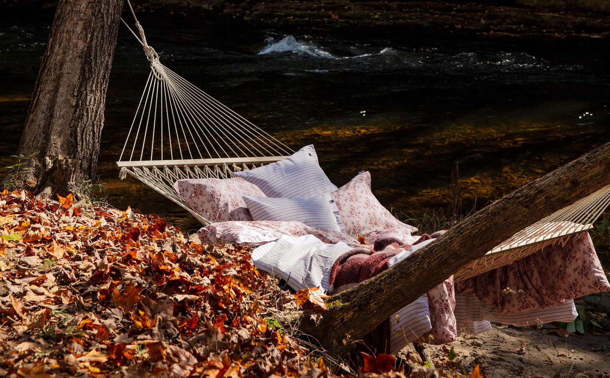 Printed Floral Sateen Duvet, Autumn Floral
