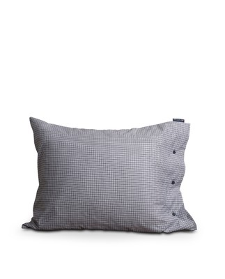 Tattersall Tencel Pillowcase, White/Blue Check