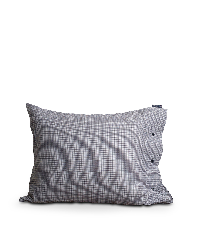 Tattersall Tencel Pillowcase, White/Blue Check