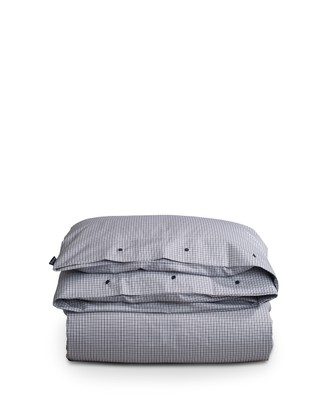Tattersall Tencel Duvet, White/Blue Check