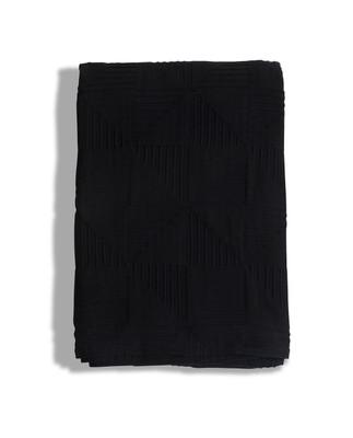 Jacquard Cotton Bedspread, Navy
