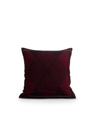 Argyle Wool Sham, Red