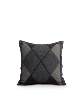Fall Argyle Wool Sham, Gray