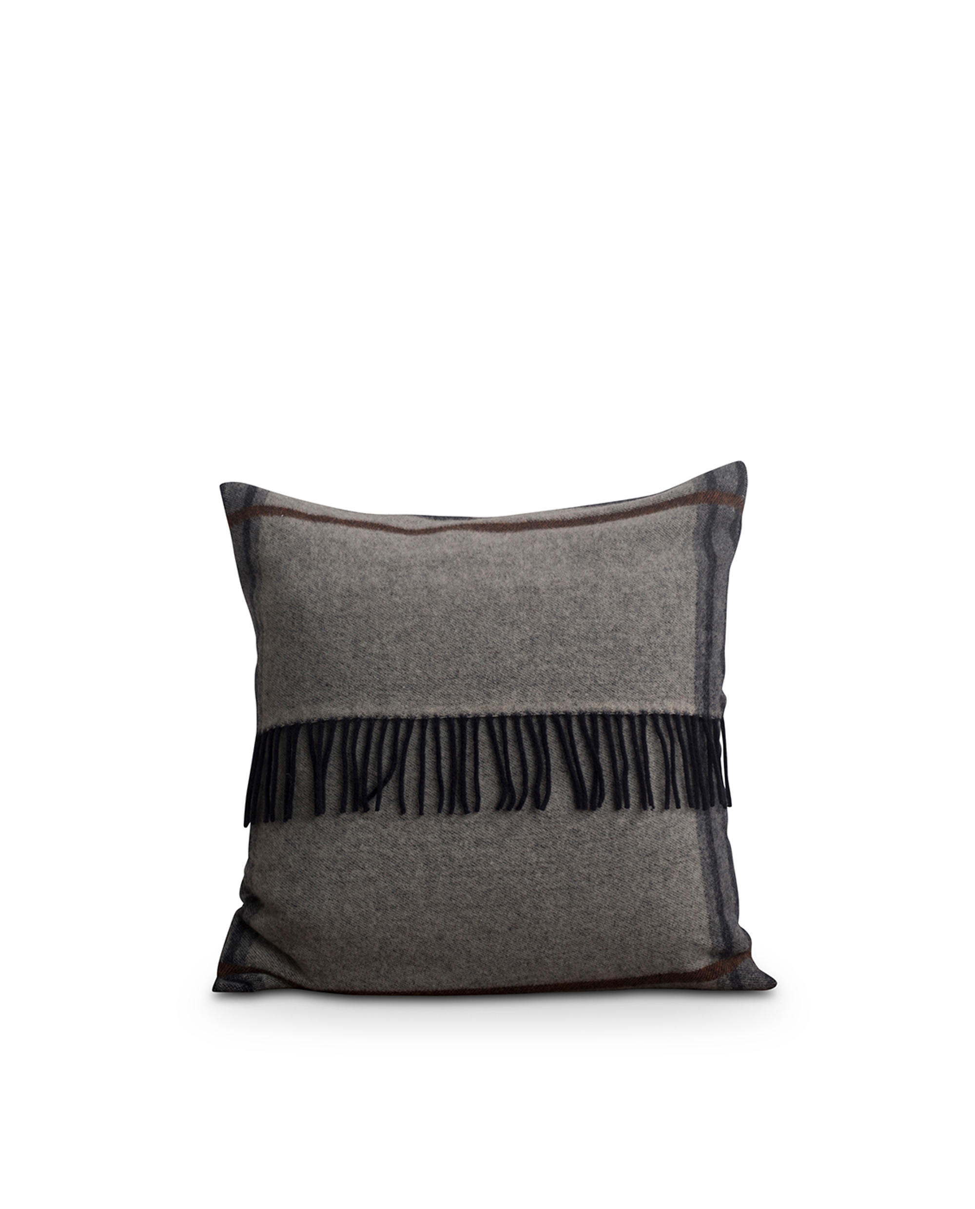 Argyle Wool Sham, Gray