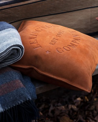 Lexington Suede Logo Sham, Rust