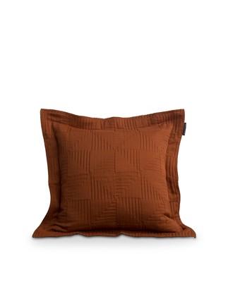 Jacquard Cotton Sham, Rust