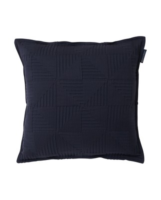 Fall Jacquard Cotton Sham, Navy