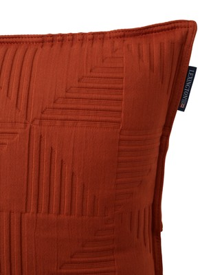 Jacquard Cotton Sham, Rust