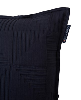 Jacquard Cotton Sham, Navy