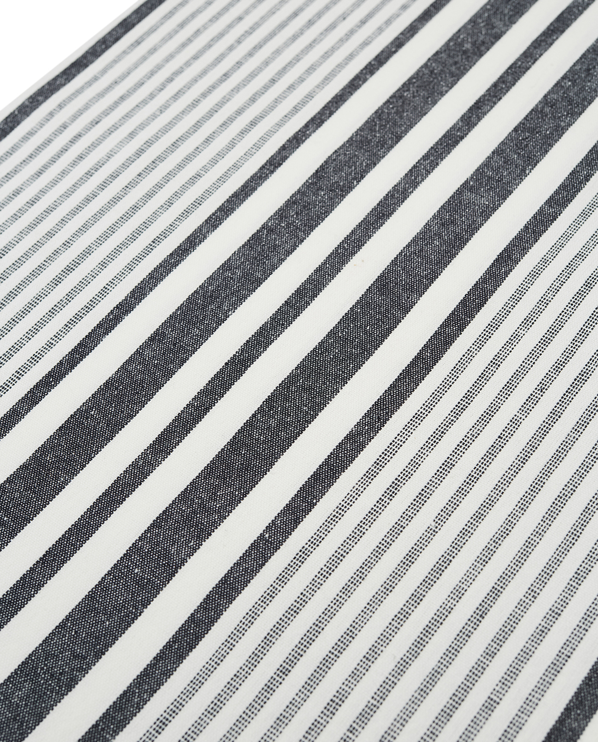 Fall Striped Tablecloth, White