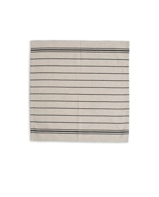 Fall Striped Napkin, White