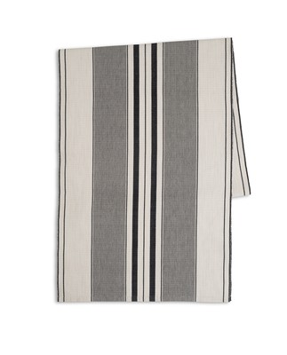 Fall Striped Runner, White