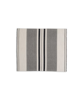 Fall Striped Placemat, White