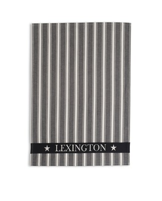 Fall Lexington Striped Kitchen Towel, White