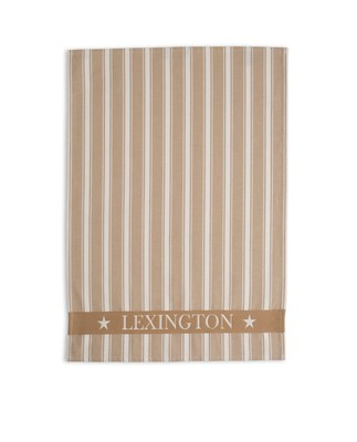 Lexington Striped Kitchen Towel, Beige