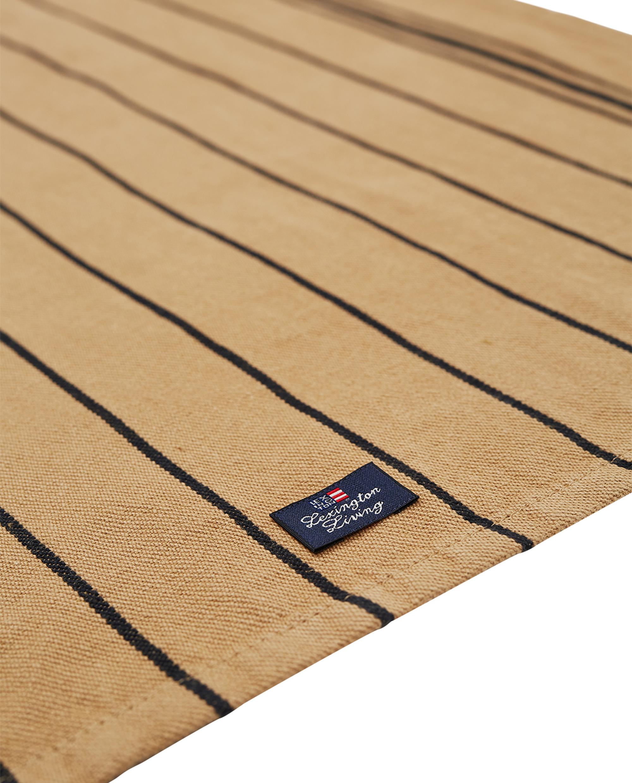 Fall Striped Kitchen Towel, Beige