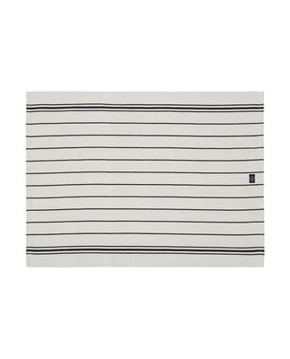 Striped Kitchen Towel, White
