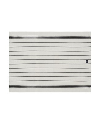 Fall Striped Kitchen Towel, White