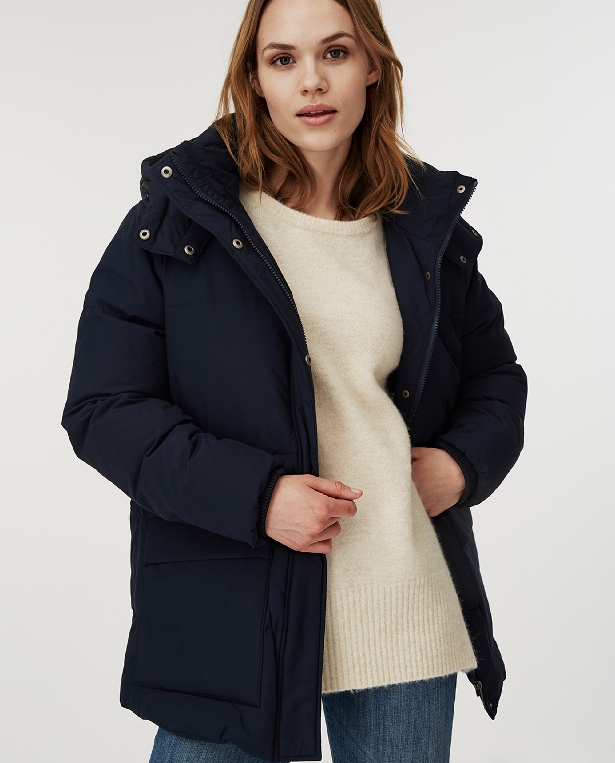 Emma Down Jacket, Dark Blue