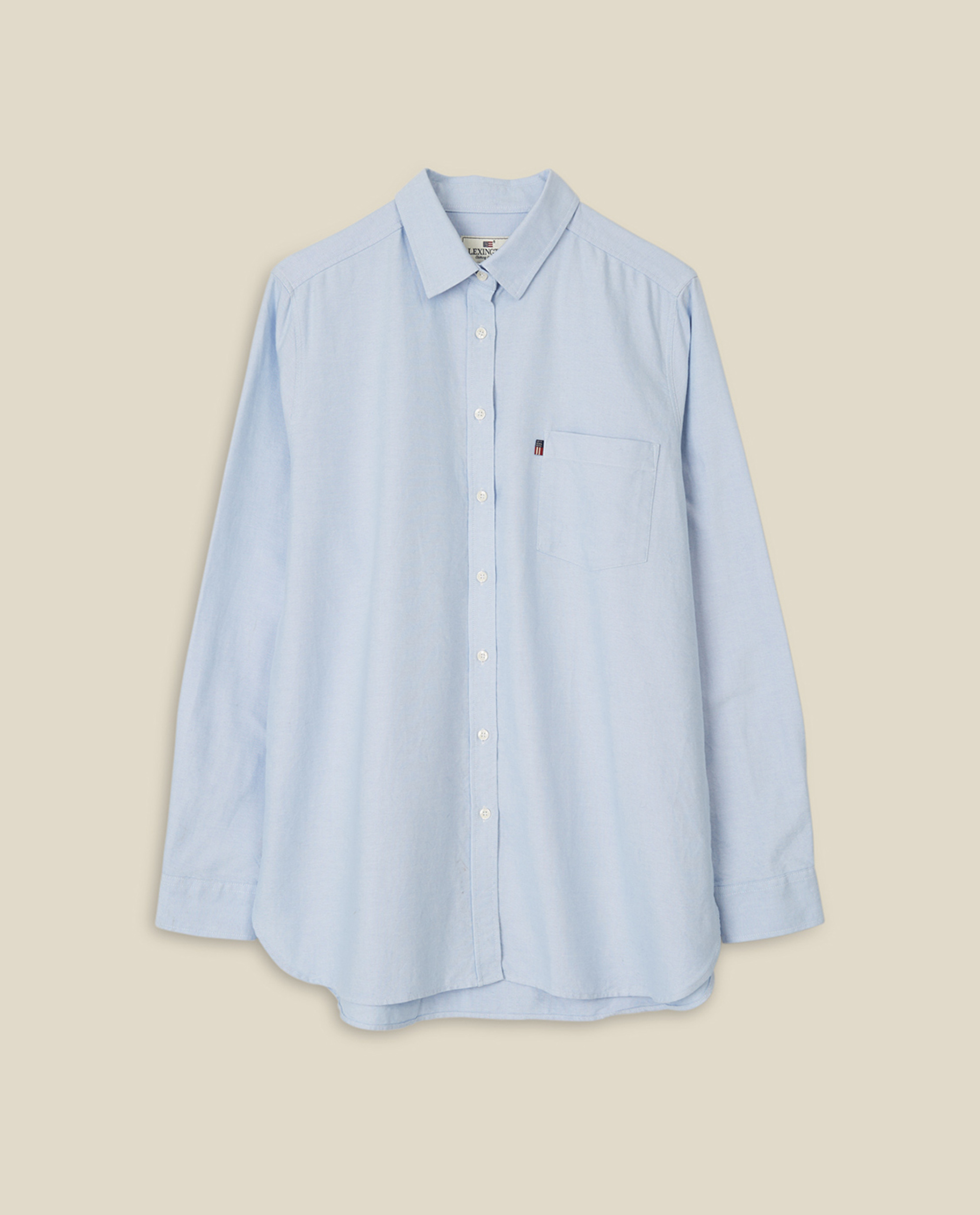 Isa Organic Cotton Oxford Shirt, Light Blue