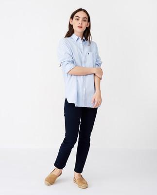 Isa Organic Cotton Oxford Shirt, Light Blue