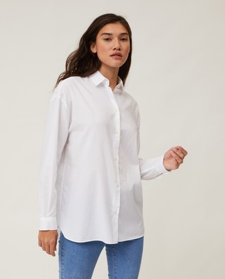 Edith Light Oxford Shirt, White