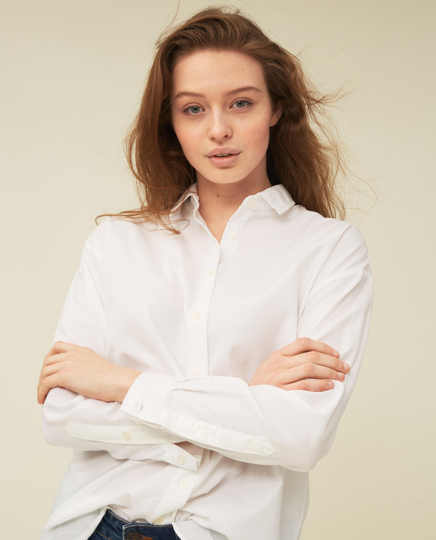 Edith Lt Oxford Shirt, White