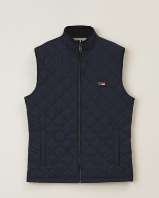 Gregory Quilted Vest, Dark Blue