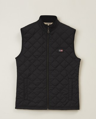Gregory Quilted Vest, Black